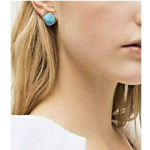Kate Spade Turquoise Small Square Stud Earrings